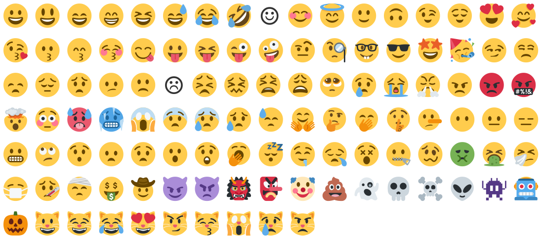 smiley category of emojis
