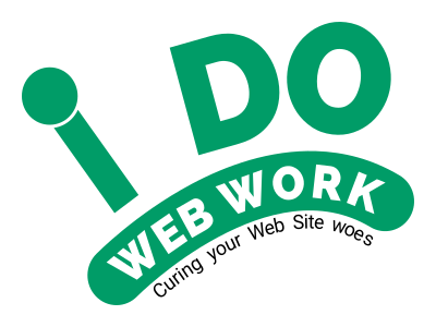 I Do Web Work - Curing Your Web Site Woes Logo