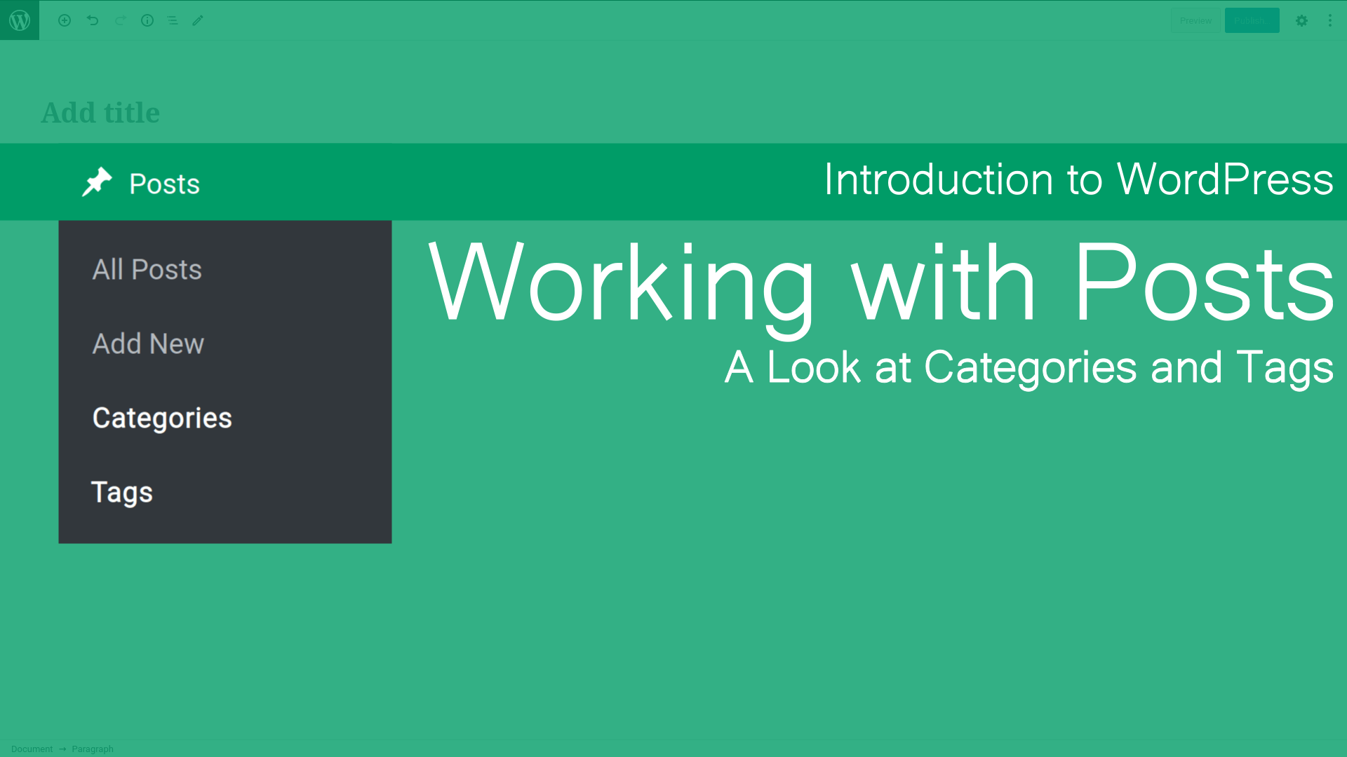 Working with Posts Categories & Tags Cover