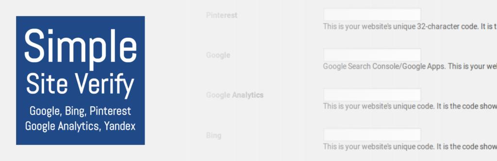Simple Site Verify Plugin Banner