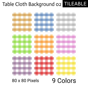 Tileable Table Cloth Background Set 02